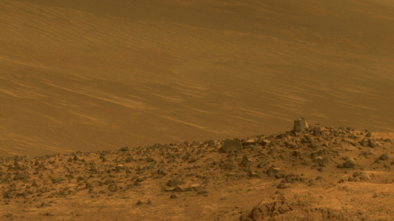 ground level view of Wharton ridge on Mars